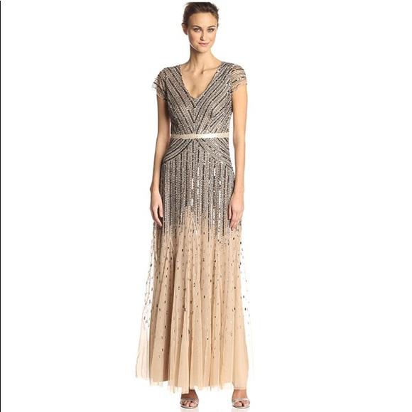 f5ea7a51 Adrianna Papell Dresses | Cap Sleeve Sequin Dress Size 6 | Poshmark